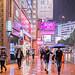 Rainy night at Causeway Bay
