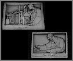 10 - Nogent-sur-Marne -Rue Bauyn de Perreuse - Lycée Edouard Branly - Façade, Détails - Bas-reliefs, Les sciences