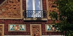13 - Nogent-sur-Marne -Rue Bauyn de Perreuse - Façade, Détail