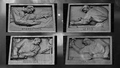 5 - Nogent-sur-Marne -Rue Bauyn de Perreuse - Lycée Edouard Branly - Façade, Détails - Bas-reliefs, Les techniques