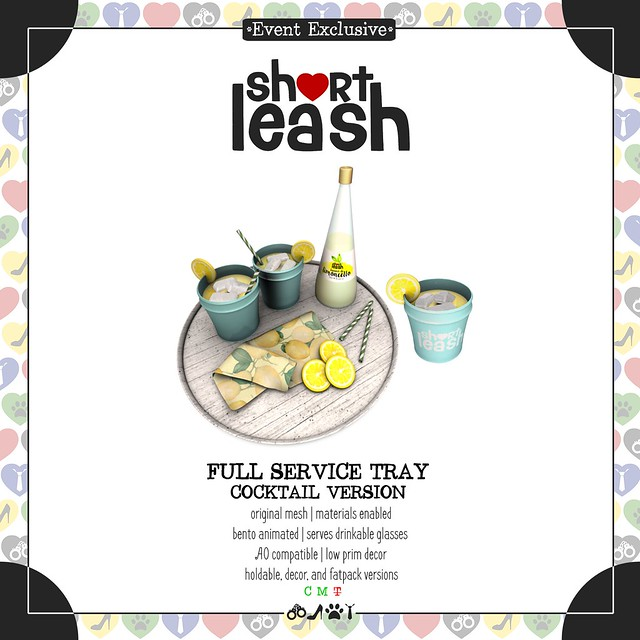 .:Short Leash:. Full Service Tray - Cocktail Version
