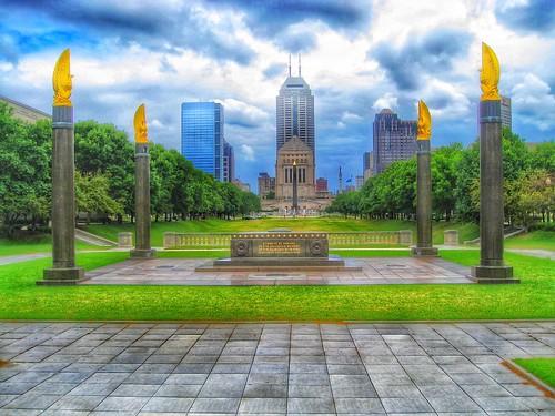 Indiana Indianapolis   - Cenotaph Square - Indiana World War Memorial Plaza