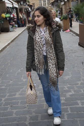 Samiha de Beirut que amb molta simpatia ha deixat que li faci fotos,  Beirut, Líban.