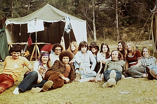 The house of the new world, coffee house team retreat 1974.