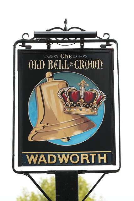 The Old Bell and Crown pub sign Hatherden Hampshire UK