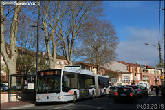 Mercedes-Benz Citaro G C2 NGT - Tisséo Voyageurs / Tisséo n°1857 - Photo of Saint-Orens-de-Gameville