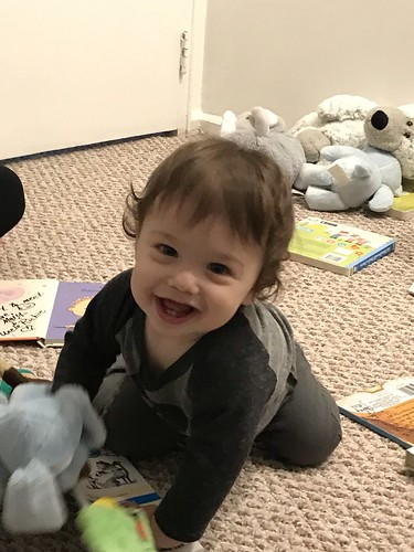 My Adorable Great Nephew is all smiles.