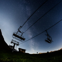 Milky Way In French Alps
