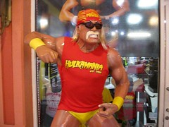 Hulk Hogan statue at Clearwater Beach, Florida