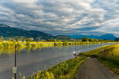 Flooded Rhine at Diepoldsau