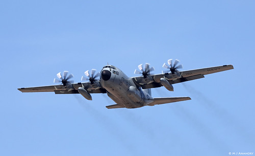 United States Navy Lockheed C-130T Hercules 165161/BD departing NAS Rota/LERT
