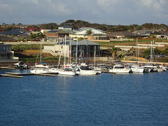 Wallaroo. View of the marina and water front housing.