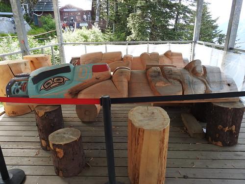 Tlingit totem pole carving