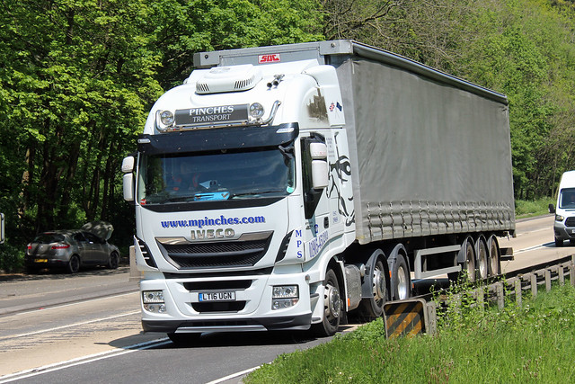 Pinches, Worcester LT16 UGN, Iveco Stralis on Crickley Hill