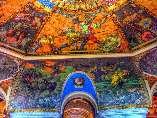 New York State Capitol ~ Albany New York ~ Governor's Reception Room Murals