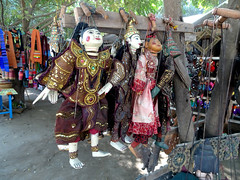 Puppets for sale in Sagaing region, Myanmar