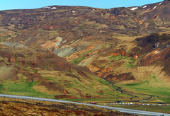 Reykjadalur Falling From the Hills