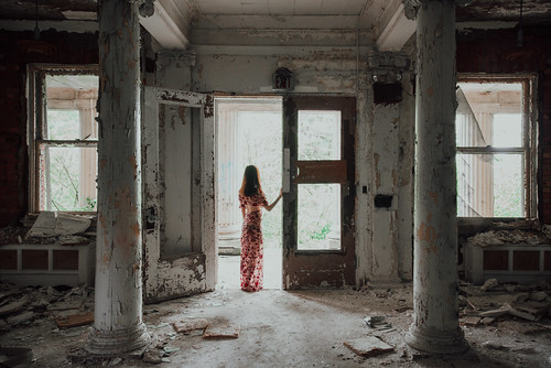 Self Portrait at an abandoned Tuberculosis Hospital