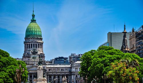 Palace of the Argentine National Congress, Buenos Aires, Argentina アルゼンチンの国民議会 、ブエノス・アイレス、アルゼンチン