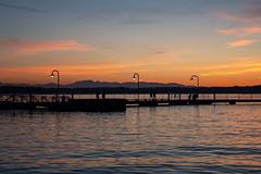 Sundown on the lake