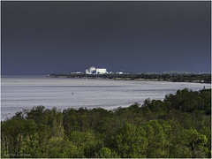View from the Citadelle de Blaye in the direction of the Blayais Nuclear Power Plant - Photo of Fours