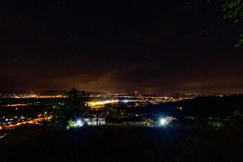 View from Bildstein at night