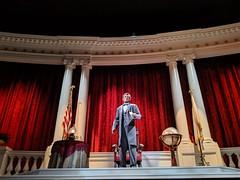 Mr Lincoln animatronic 4, Great Moments With Mr Lincoln, Main Street, Disneyland, Anaheim, Californai