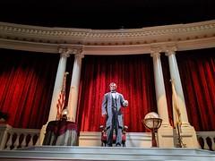 Mr Lincoln animatronic 1, Great Moments With Mr Lincoln, Main Street, Disneyland, Anaheim, Californai