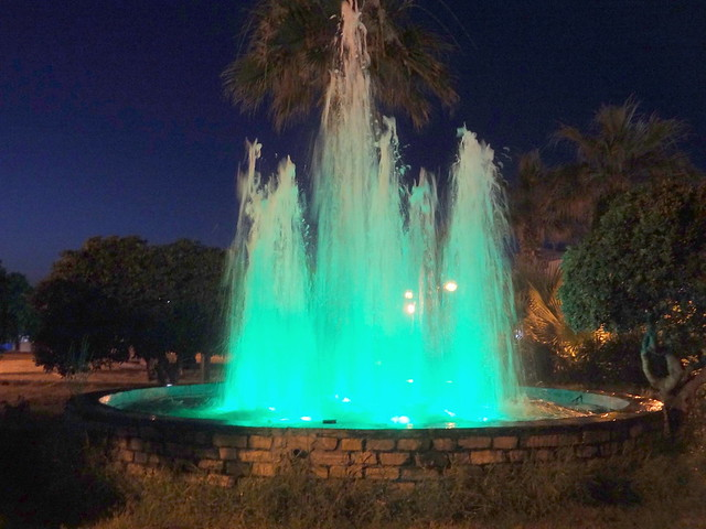 Illuminated Fountain - Green
