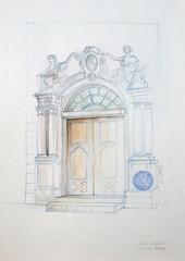 Dijon - Porte de l'Hôtel Aubriot - Photo of Hauteville-lès-Dijon