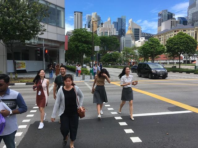 Les piétons dans la ville