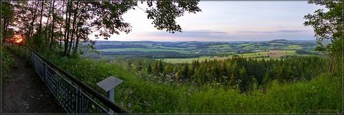 Abendlicher Blick vom Scheibenberg