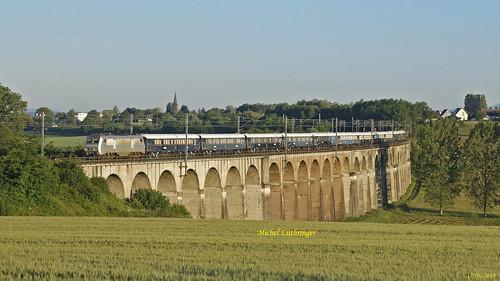 BB 26005 Train VSOE 27091 Calais-Venezia Santa Lucia à Ballersdorf