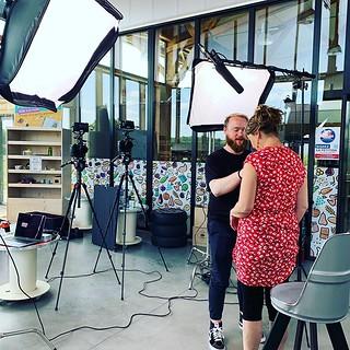 En tournage chez @brindherbe35 avec @robinwhr pour une série de portraits qu'on vous livre très bientôt ! #video #rennes #chantepie #lagencequivouseclair