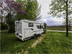 Camper parking at Marquis de Vauban Castle - Photo of Villeneuve