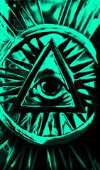 Illuminati Eye 3 - Teal
