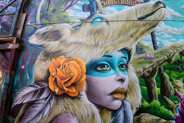 street art at Freetown in Copenhagen