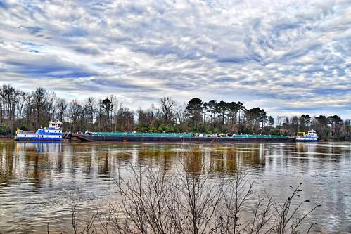 Towboats and Barge -- Black Warrior River Tuscaloosa (AL) February 2019