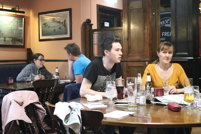 Lesile Sharp at Quiz Night at the Red Lion, Stockport?