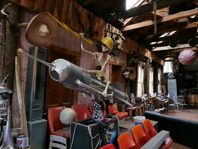 Inside the Guffey Museum.