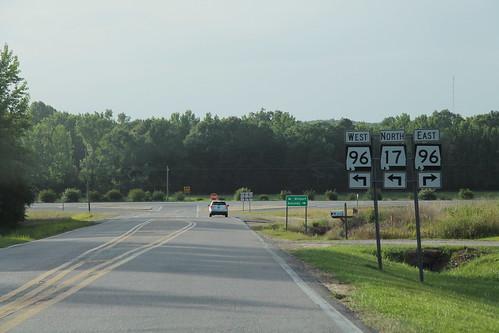 AL17 North at AL96 Signs