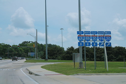 US78 East AL5 South at I-20 I-59 to I-65 Signs