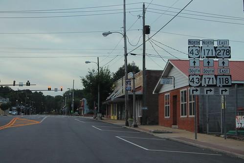 US278 East at US43 North AL171 AL118 East - Guin