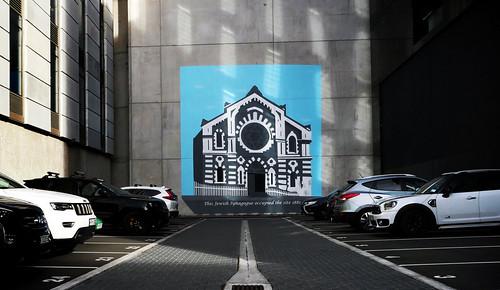 The  car park wall,