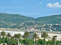 France, la Corse, la ville haute de Bastia