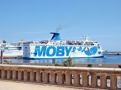 France, la Corse, au Port le ferry Moby Italien à Bastia