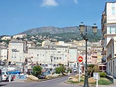 France, la Corse, le vieux port de la ville de Bastia