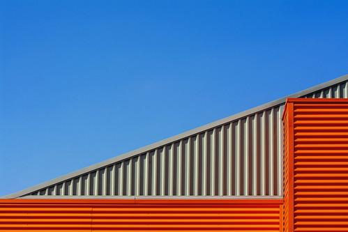 Orange and grey building