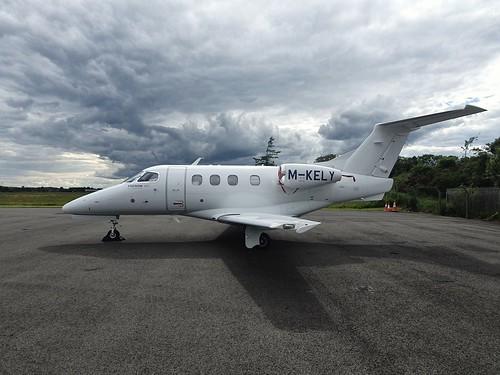 Kelly Air Embraer EMB-500 Phenom 100 M-KELY seen at Dublin Weston Executive Airport EIWT
