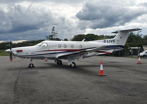 Pilatus PC-12/47E 2-LIVE seen at Dublin Weston Executive Airport EIWT